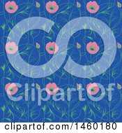 Clipart Of A Background Of Art Nouveau Flowers Royalty Free Vector Illustration by Frisko