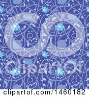 Clipart Of A Background Of Medieval Flowers Royalty Free Vector Illustration by Frisko