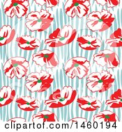Clipart Of A Background Of Poppy Flowers Royalty Free Vector Illustration by Frisko