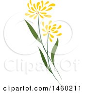Poster, Art Print Of Plant With Yellow Flowers