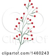 Poster, Art Print Of Plant With Red Berries