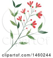 Poster, Art Print Of Branch With Berries And Flowers