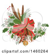 Clipart Of A Christmas Decoration Royalty Free Vector Illustration
