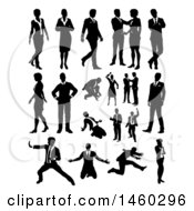 Poster, Art Print Of Silhouetted Business People