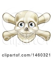 Clipart Of A Skull And Crossbones With Eyes Royalty Free Vector Illustration