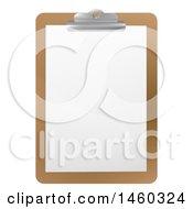 Blank Sheet Of Paper On A Clipboard