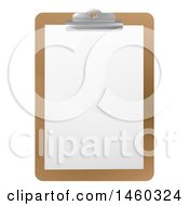Clipart Of A Blank Sheet Of Paper On A Clipboard Royalty Free Vector Illustration by AtStockIllustration