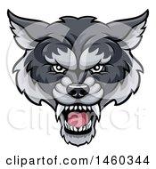 Gray Wolf Mascot Head