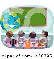 Poster, Art Print Of Group Of Children Listening To A Gobe Teacher
