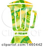 Clipart Of A Veggie Patterned Blender Royalty Free Vector Illustration by BNP Design Studio