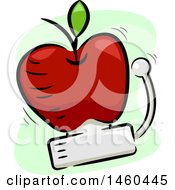June 20th, 2017: Clipart Of A Ringing School Bell In The Shape Of An Apple Royalty Free Vector Illustration by BNP Design Studio