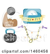 Clipart Of Inspirational Fitness Designs Royalty Free Vector Illustration by BNP Design Studio