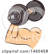 June 20th, 2017: Clipart Of A Strong Mans Arm With A Dumbbell Royalty Free Vector Illustration by BNP Design Studio