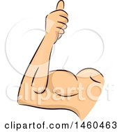 Clipart Of A Strong Mans Arm With A Thumb Up Royalty Free Vector Illustration by BNP Design Studio