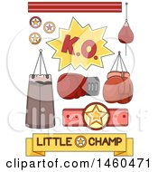 June 20th, 2017: Clipart Of Boxing And Fighting Design Elements Royalty Free Vector Illustration by BNP Design Studio