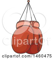 June 20th, 2017: Clipart Of Hanging Red Boxing Gloves Royalty Free Vector Illustration by BNP Design Studio