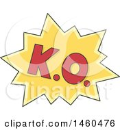 Clipart Of A Boxing Ko Design Element Royalty Free Vector Illustration