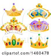 June 22nd, 2017: Clipart Of Royal Crowns Royalty Free Vector Illustration by BNP Design Studio