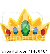 June 20th, 2017: Clipart Of A Royal Crown With Gems Royalty Free Vector Illustration by BNP Design Studio