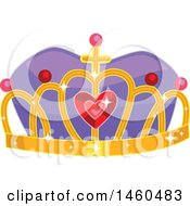 Clipart Of A Royal Crown With Gems Royalty Free Vector Illustration