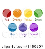 June 20th, 2017: Clipart Of Red Orange Yellow Green Blue Indigo And Violet Colors In Different Patterns Royalty Free Vector Illustration by BNP Design Studio