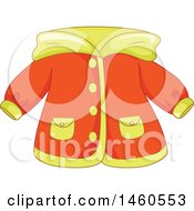 June 21st, 2017: Clipart Of A Rain Coat Royalty Free Vector Illustration by BNP Design Studio
