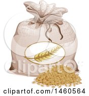 Clipart Of A Barley Sack Royalty Free Vector Illustration by BNP Design Studio