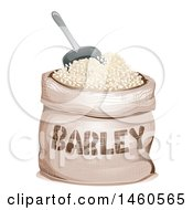 Clipart Of A Barley Sack And Scoop Royalty Free Vector Illustration by BNP Design Studio
