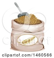 June 21st, 2017: Clipart Of A Barley Sack And Scoop Royalty Free Vector Illustration by BNP Design Studio