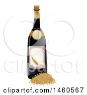 June 21st, 2017: Clipart Of A Barley Wine Bottle Royalty Free Vector Illustration by BNP Design Studio
