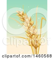 Clipart Of A Wheat Stalk Over Gradient Royalty Free Vector Illustration