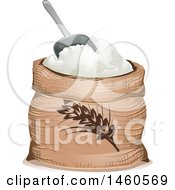 June 21st, 2017: Clipart Of A Wheat Flour Sack And Scoop Royalty Free Vector Illustration by BNP Design Studio