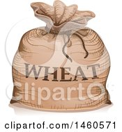June 21st, 2017: Clipart Of A Wheat Sack Royalty Free Vector Illustration by BNP Design Studio