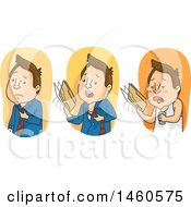 June 21st, 2017: Clipart Of A Business Man Shown Hot Hotter And Hottest Royalty Free Vector Illustration by BNP Design Studio