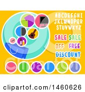 Clipart Of Shopping Design Labels With Sale Off Free And Discount Texts Royalty Free Vector Illustration
