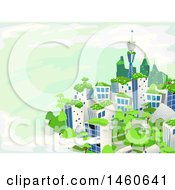 June 22nd, 2017: Clipart Of A Green City With Trees Royalty Free Vector Illustration by BNP Design Studio