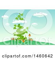 June 22nd, 2017: Clipart Of A Beanstalk Growing From A Garden Royalty Free Vector Illustration by BNP Design Studio