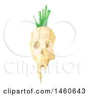Clipart Of A Gmo Sugar Beet With A Skull Face Royalty Free Vector Illustration