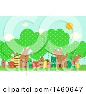 June 22nd, 2017: Clipart Of A City With Trees Royalty Free Vector Illustration by BNP Design Studio