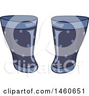Clipart Of A Pair Of Rain Boots Royalty Free Vector Illustration