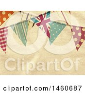 Ivory Fabric Background With Bunting Banners