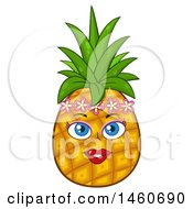 June 23rd, 2017: Clipart Of A Female Pineapple Mascot Royalty Free Vector Illustration by Hit Toon