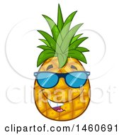 June 23rd, 2017: Clipart Of A Pineapple Mascot Wearing Sunglasses Royalty Free Vector Illustration by Hit Toon
