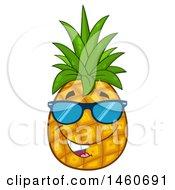Pineapple Mascot Wearing Sunglasses