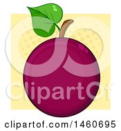 Poster, Art Print Of Passion Fruit Over Halftone