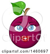 June 23rd, 2017: Clipart Of A Female Passion Fruit Mascot Royalty Free Vector Illustration by Hit Toon