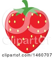 Clipart Of A Strawberry Royalty Free Vector Illustration by Hit Toon