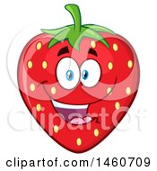 Clipart Of A Strawberry Mascot Character Royalty Free Vector Illustration by Hit Toon