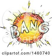 Clipart Of A Cartoon Comic Bang Explosion Royalty Free Vector Illustration