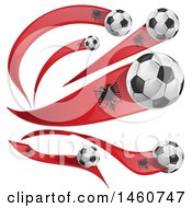 June 24th, 2017: Clipart Of 3d Soccer Balls And Albanian Flags Royalty Free Vector Illustration by Domenico Condello